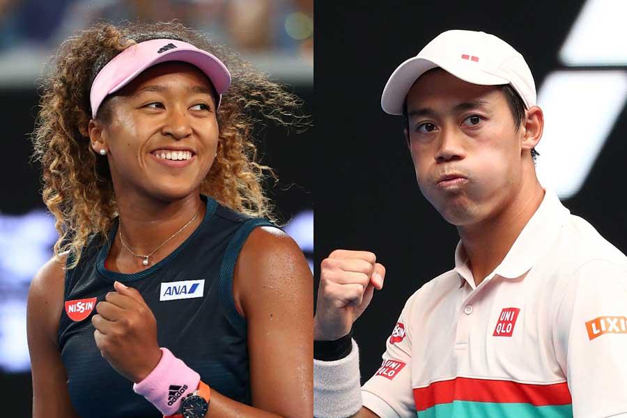 大坂なおみ(左)と錦織圭【写真:Getty Images】
