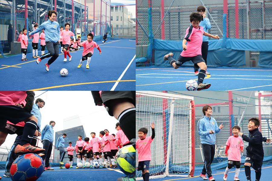「まずは楽しくボールと遊ぶこと、グラウンドを駆け回ること」と馬場憂太さんは持論を語る【写真:荒川祐史】