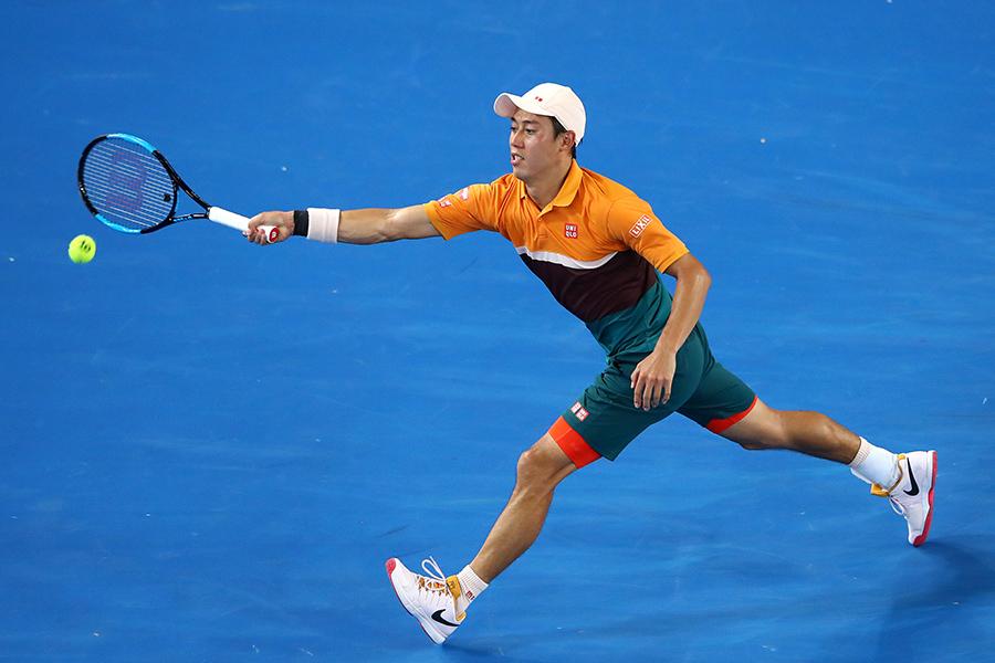 全豪オープンで自身4度目の8強入りを果たした錦織【写真:Getty Images】