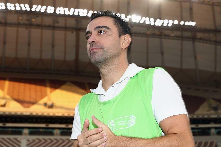 元スペイン代表MFシャビ【写真:Getty Images】