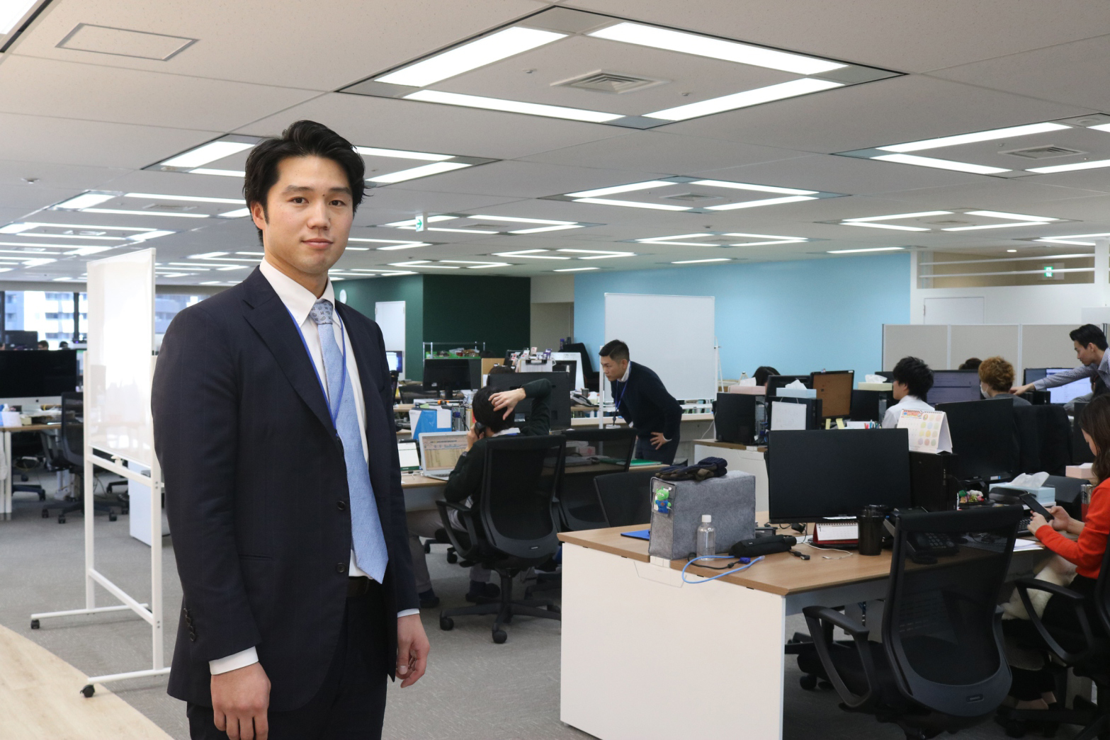 IT企業「ショーケース・ティービー」に入社した谷田成吾さん【写真:編集部】