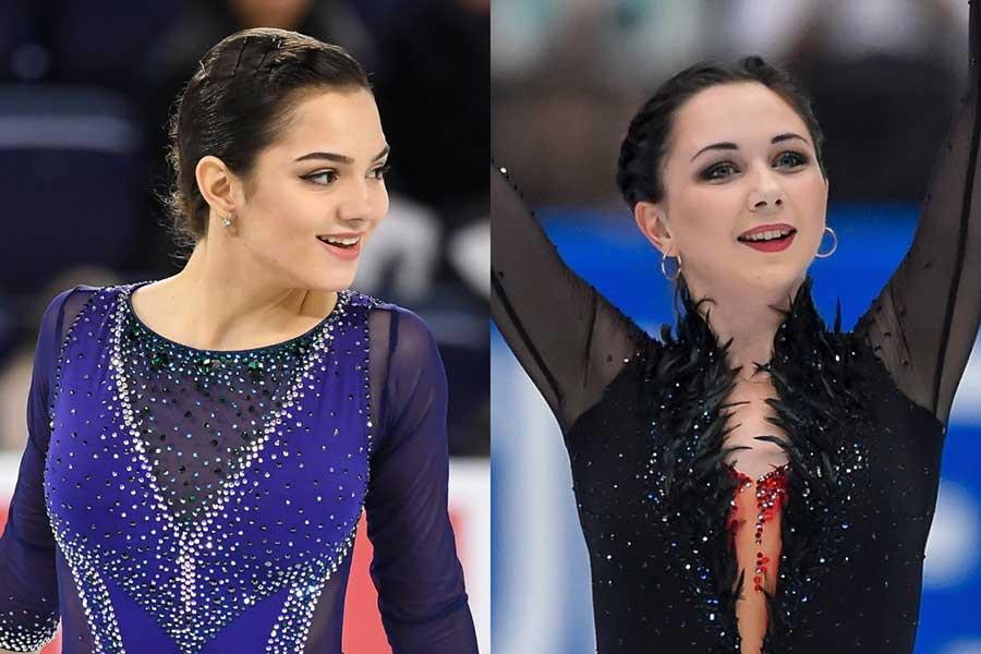 メドベージェワ(左)とトゥクタミシェワ【写真:Getty Images】
