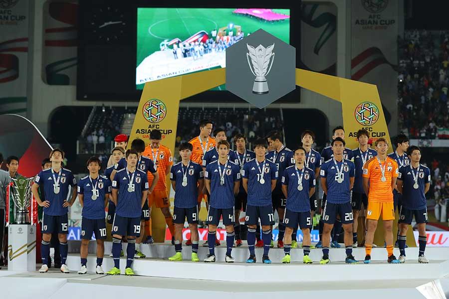 アジアカップで準優勝のサッカー日本代表【写真:Getty Images】