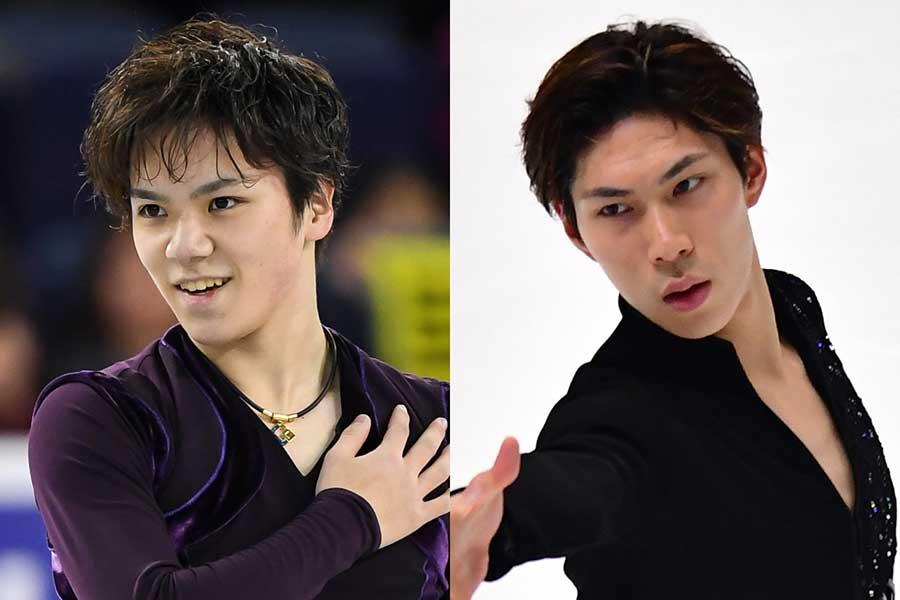 宇野昌磨(左)と田中刑事【写真:Getty Images】