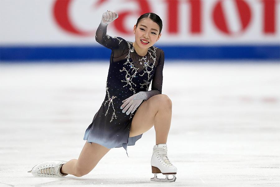 圧巻の逆転劇を見せた紀平梨花【写真:Getty Images】