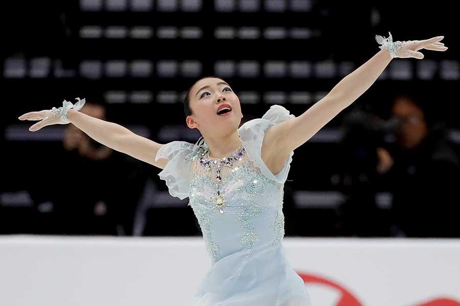 フィギュアスケートの四大陸選手権に出場した紀平梨花【写真:AP】