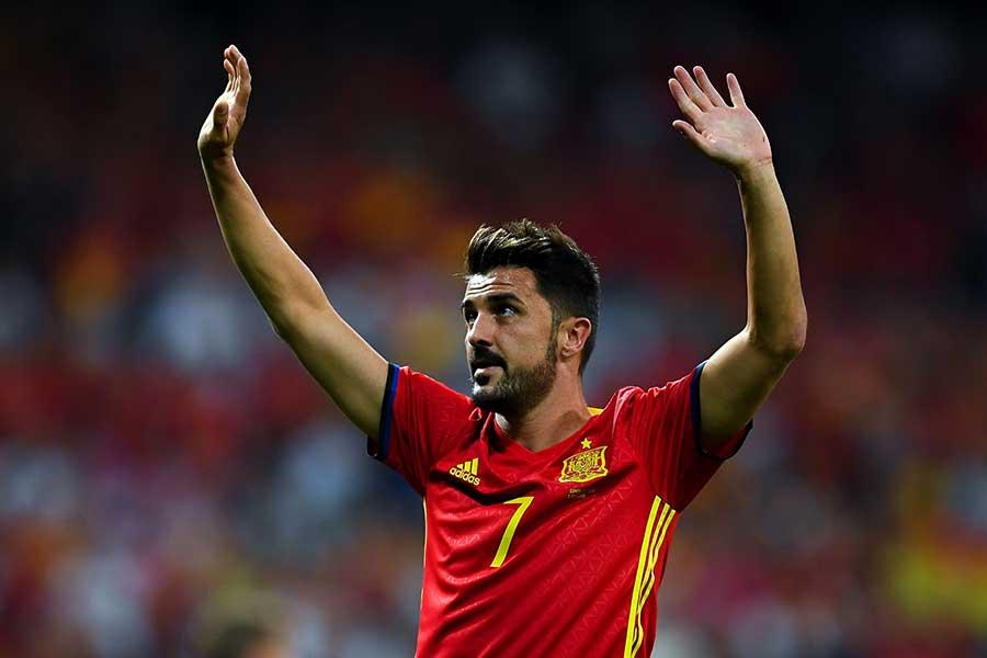 元スペイン代表FWダビド・ビジャ【写真:Getty Images】