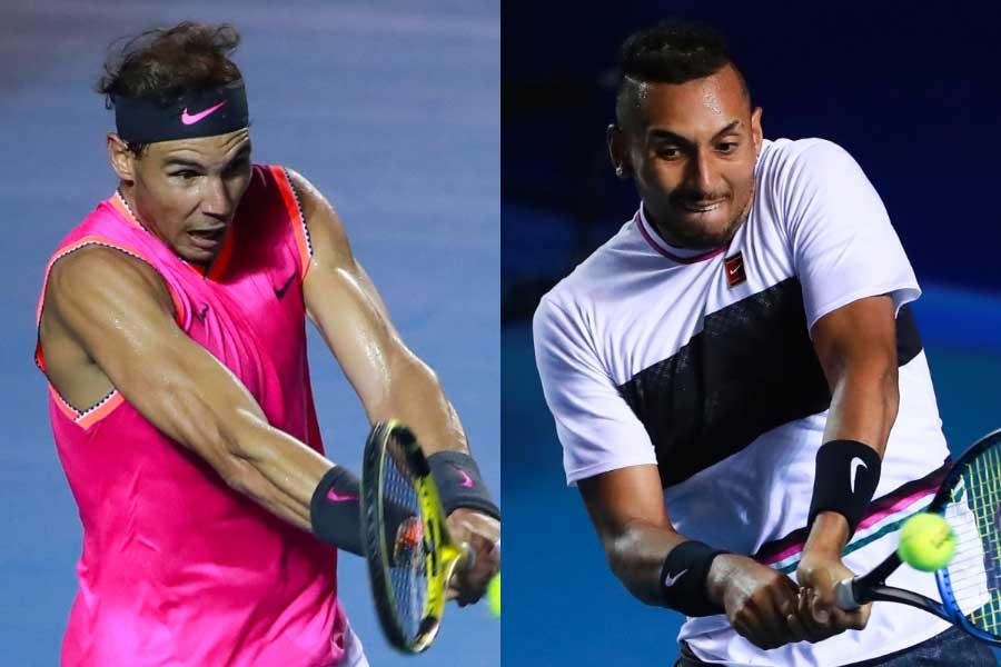 ナダル(左)とキリオス(右)【写真:Getty Images】