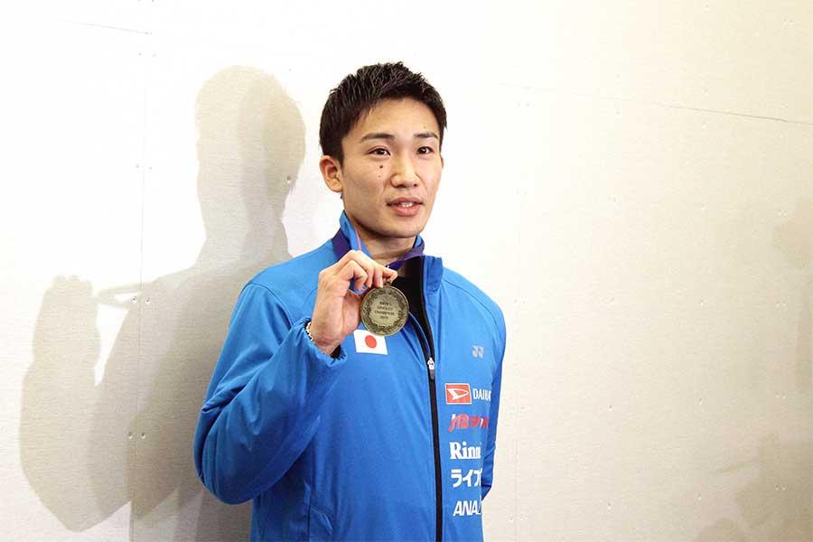 全英オープンで日本勢初の男子シングルス優勝を成し遂げた桃田賢斗【写真:平野貴也】