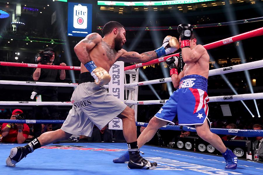 米デビュー戦を圧勝で飾ったルイス・ネリ(左)【写真:Getty Images】