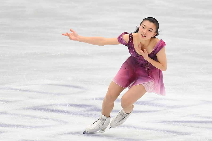 シーズンベストを更新した坂本花織【写真:Getty Images】