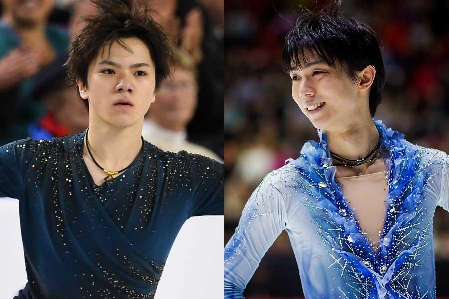 前回は羽生(右)、宇野(左)らの活躍で日本が3大会ぶりに優勝【写真:Getty Images】