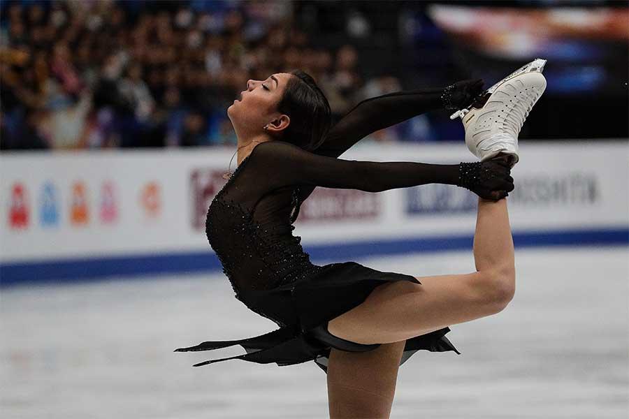 世界選手権で銅メダルに輝いたエフゲニア・メドベージェワ【写真:AP】