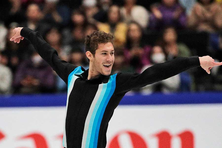 フィギュアスケートの世界選手権で9位に入ったジェイソン・ブラウン【写真:AP】