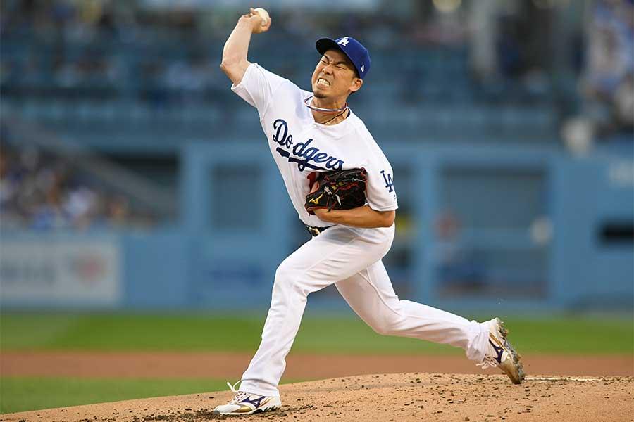 今季初勝利を挙げたドジャース・前田健太【写真:Getty Images】