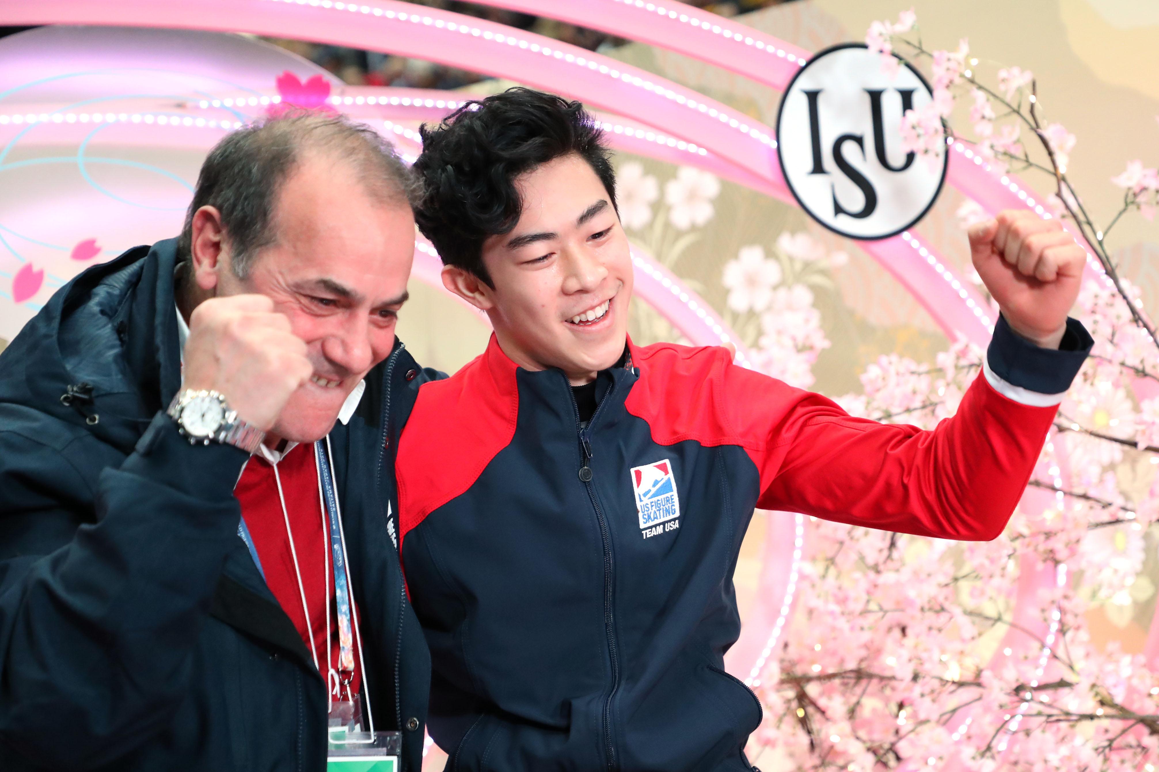 大会連覇を飾ったネイサン・チェン【写真:Getty Images】
