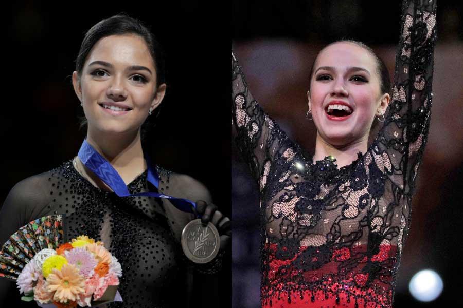 メドベージェワ(左)とザギトワ【写真:AP】