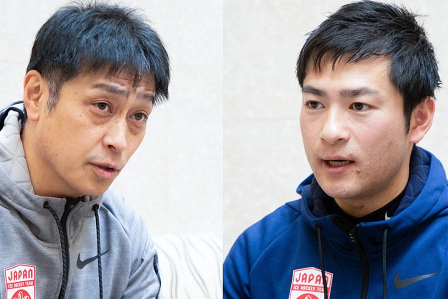 コンディション作りの重要性を語る飯塚祐司監督(左)と和光努トレーナー