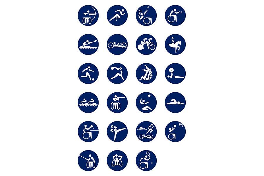 大会組織委員会は競技種目を表す絵文字「ピクトグラム」を発表【写真提供:公益財団法人東京パラリンピック・パラリンピック競技大会組織委員会】