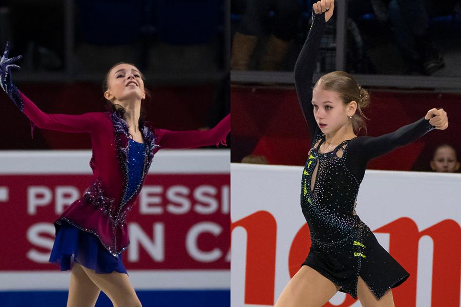 アンナ・シェルバコワ(左)とアレクサンドラ・トルソワ【写真:Getty Images】