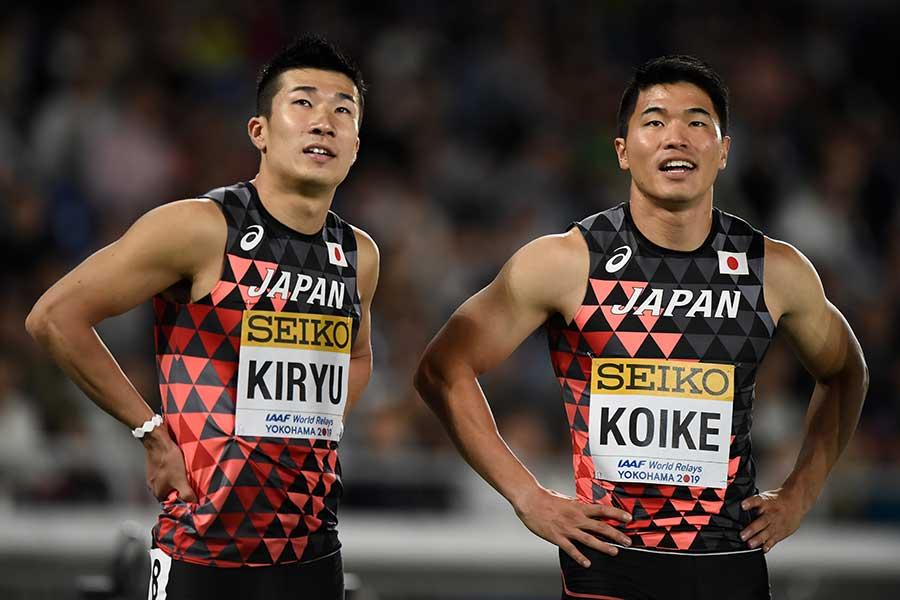 桐生祥秀(左)と小池祐貴【写真:Getty Images】