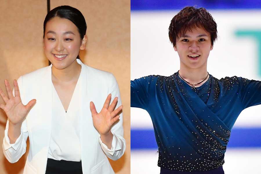 浅田真央さん(左)と宇野昌磨【写真:Getty Images】