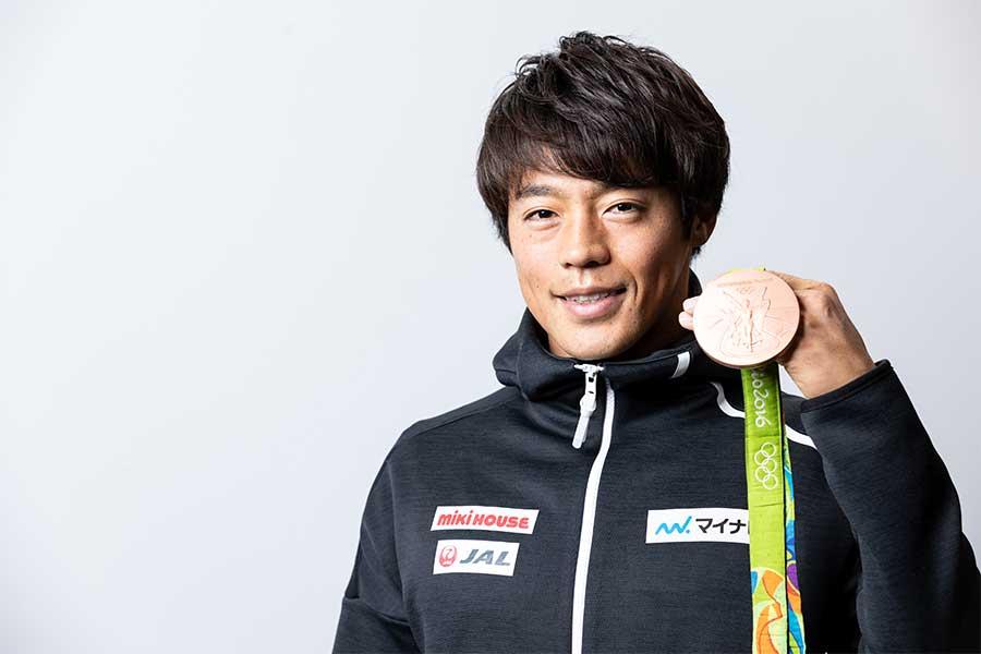 リオ五輪で銅メダルを獲得した羽根田卓也【写真:松橋晶子】