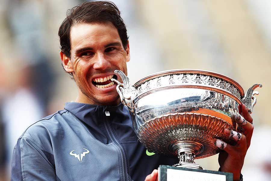 自身12度目の全仏オープン優勝を飾ったラファエル・ナダル【写真:Getty Images】