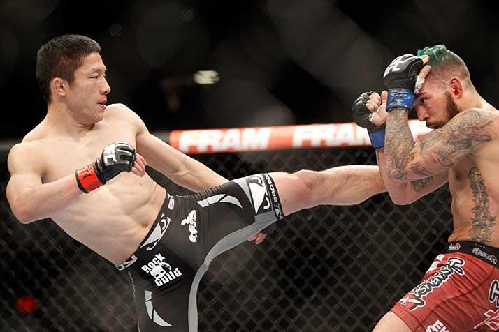 UFCに参戦した日本人ファイターの中で過去最高の成績を残した堀口恭司【写真:Getty Images】