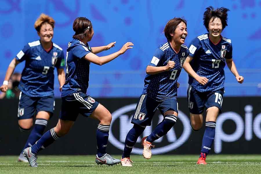 スコットランドを2-1で下した、なでしこジャパン【写真:Getty Images】