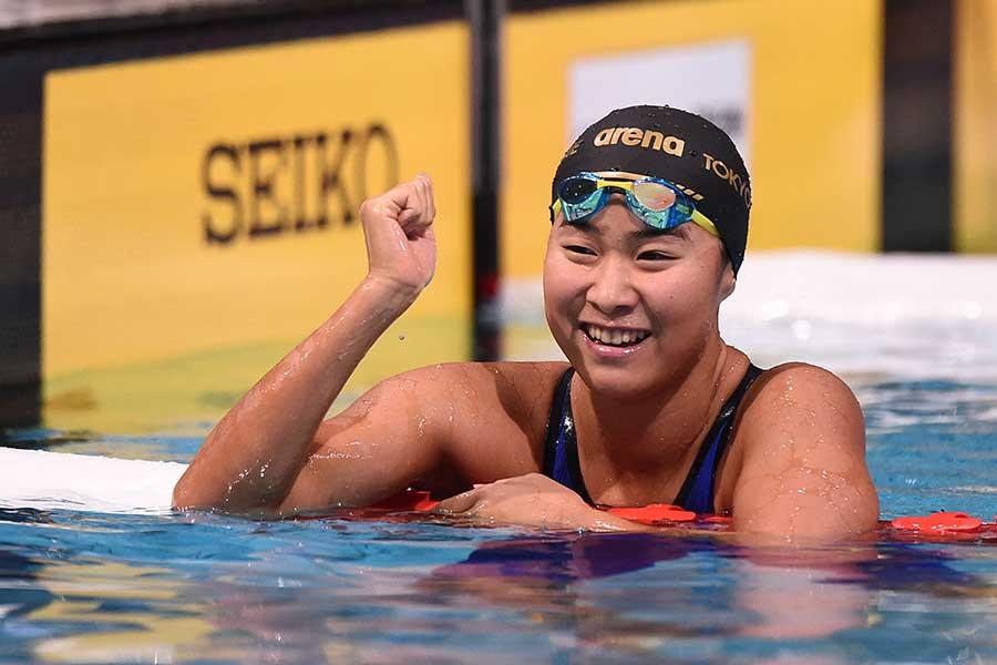 女子200メートルバタフライ、女子メドレーリレーに出場する牧野紘子【写真:Getty Images】