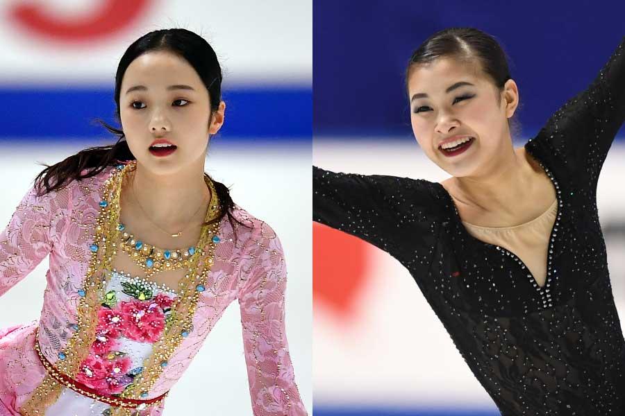 本田真凜(左)と村上佳菜子【写真:Getty Images】