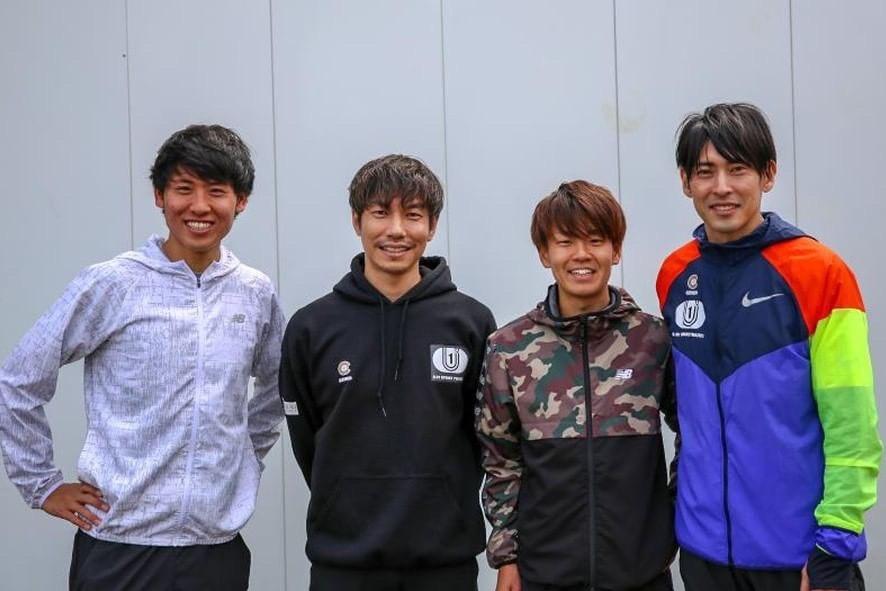 新「チーム・神野」を結成した(左から)高木マネージャー、伊藤氏、神野、秋本氏