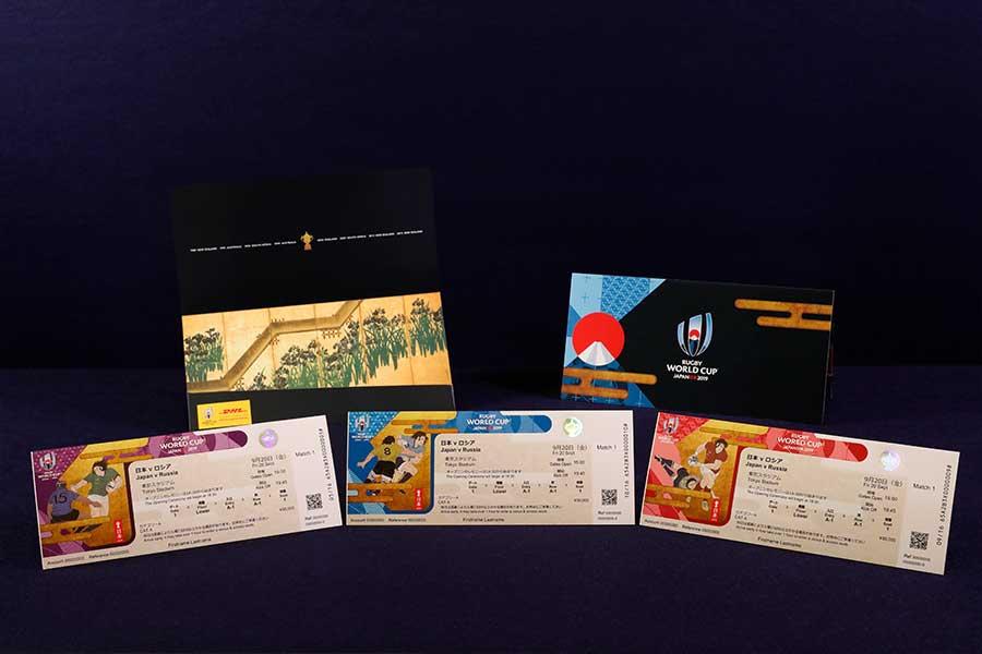 発表されたラグビーW杯のチケットデザイン【写真:ラグビーワールドカップ 2019 組織委員会 】