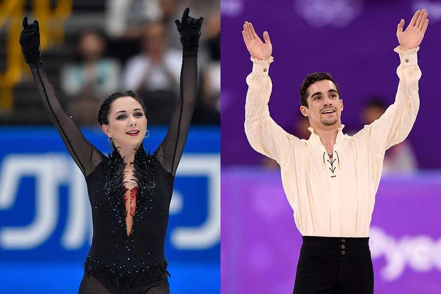 エリザベータ・トゥクタミシェワ(左)とハビエル・フェルナンデス【写真:Getty Images】