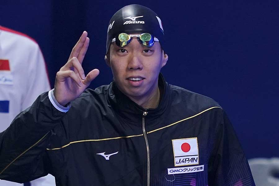 男子200メートル平泳ぎに出場する渡辺【写真:Getty Images】