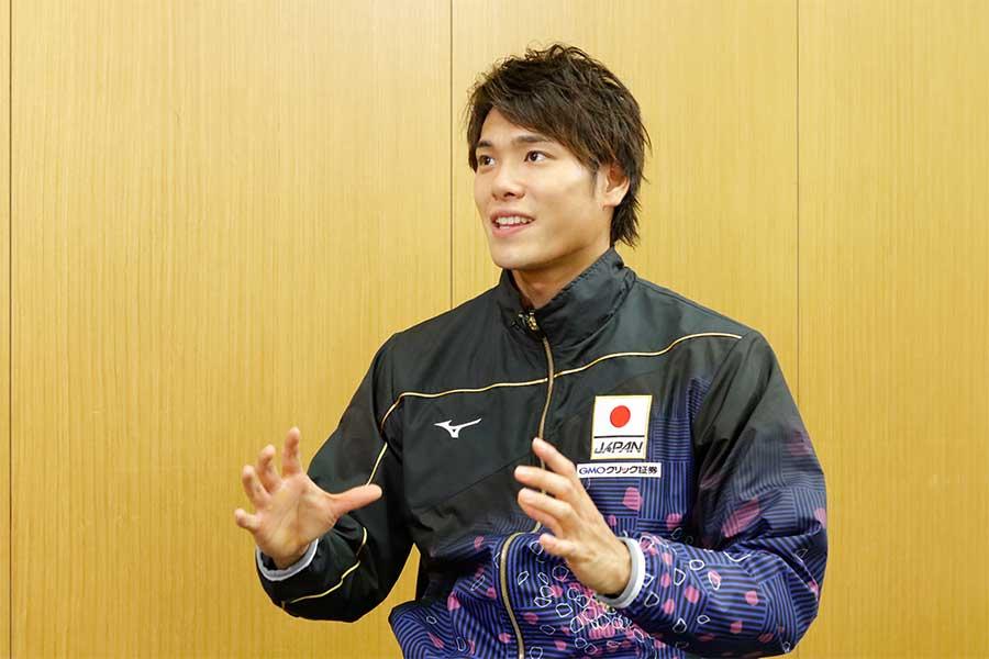 「日本の自由形の歴史を変えたい」と意気込む中村克【写真:テレビ朝日】