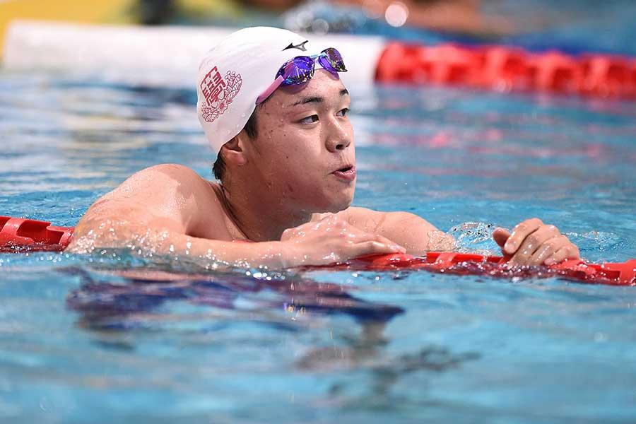 男子800メートルリレーに出場する吉田啓祐【写真:Getty Images】