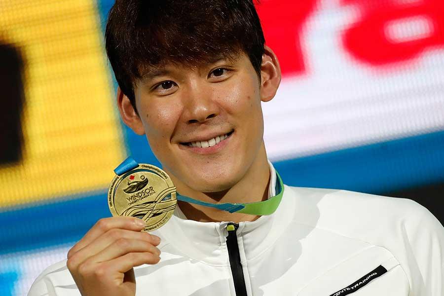 朴泰桓は世界水泳でも金メダルを獲得している【写真:Getty Images】