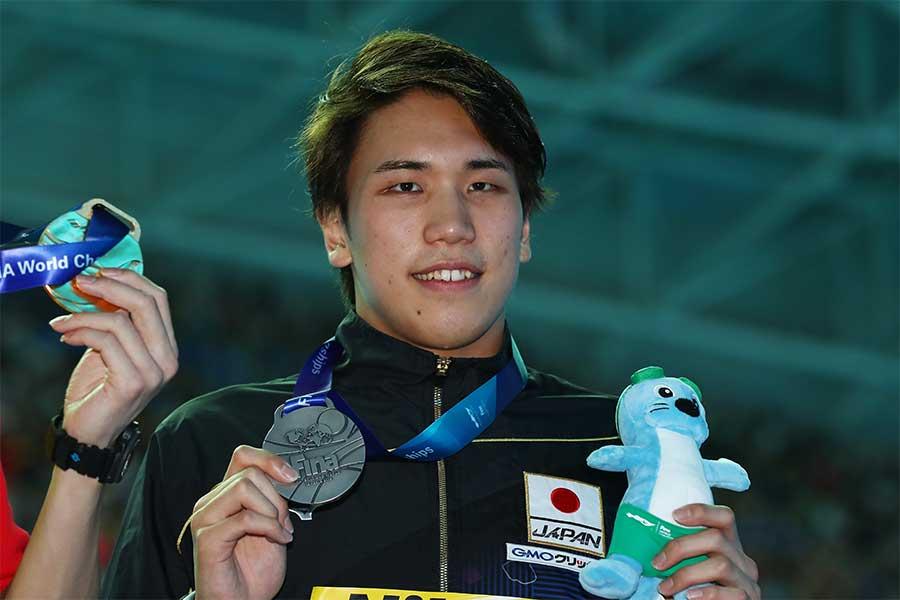 日本新記録で銀メダルに輝いた松元克央【写真:Getty Images】