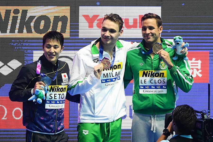 瀬戸は世界記録をたたき出したミラークに敗れ金メダルならず【写真:Getty Images】