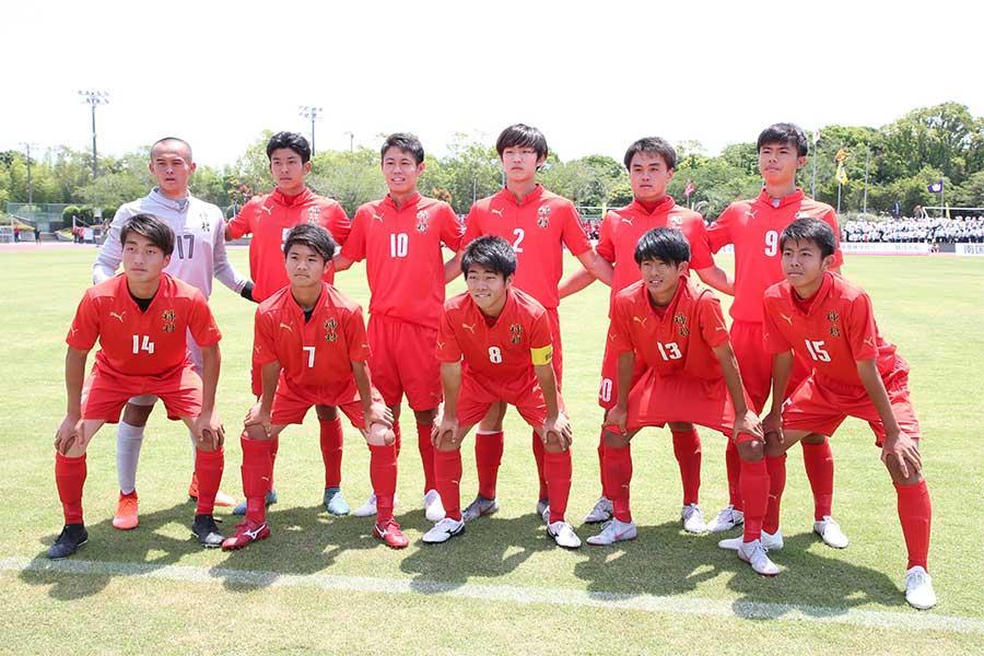 南部九州総体2019男子サッカーに出場する神村学園高校【写真:平野貴也】