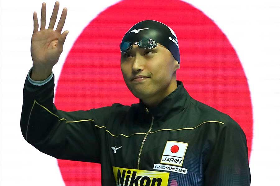 塩浦慎理は日本人18年ぶりとなった男子50メートル決勝を8位で終えた【写真:Getty Images】