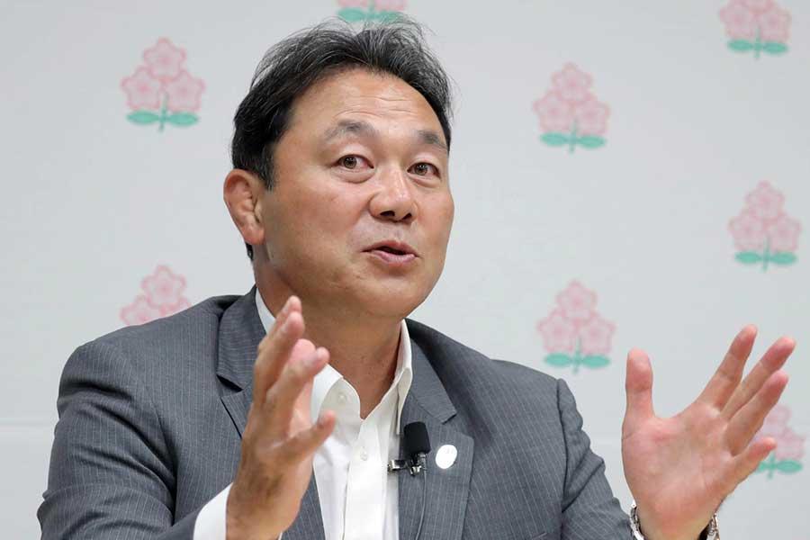 日本初となるプロリーグ構想を明かした清宮克幸氏【写真:吉田宏】