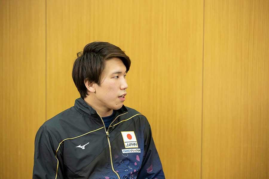 男子200メートル自由形などに出場する松元克央【写真:テレビ朝日】