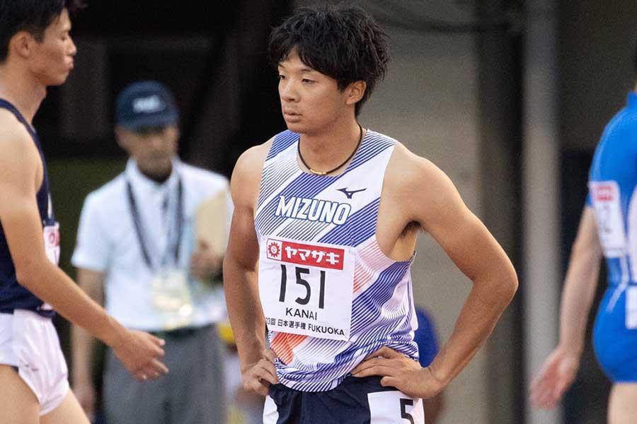 日本記録保持者の金井大旺【写真:奥井隆史】