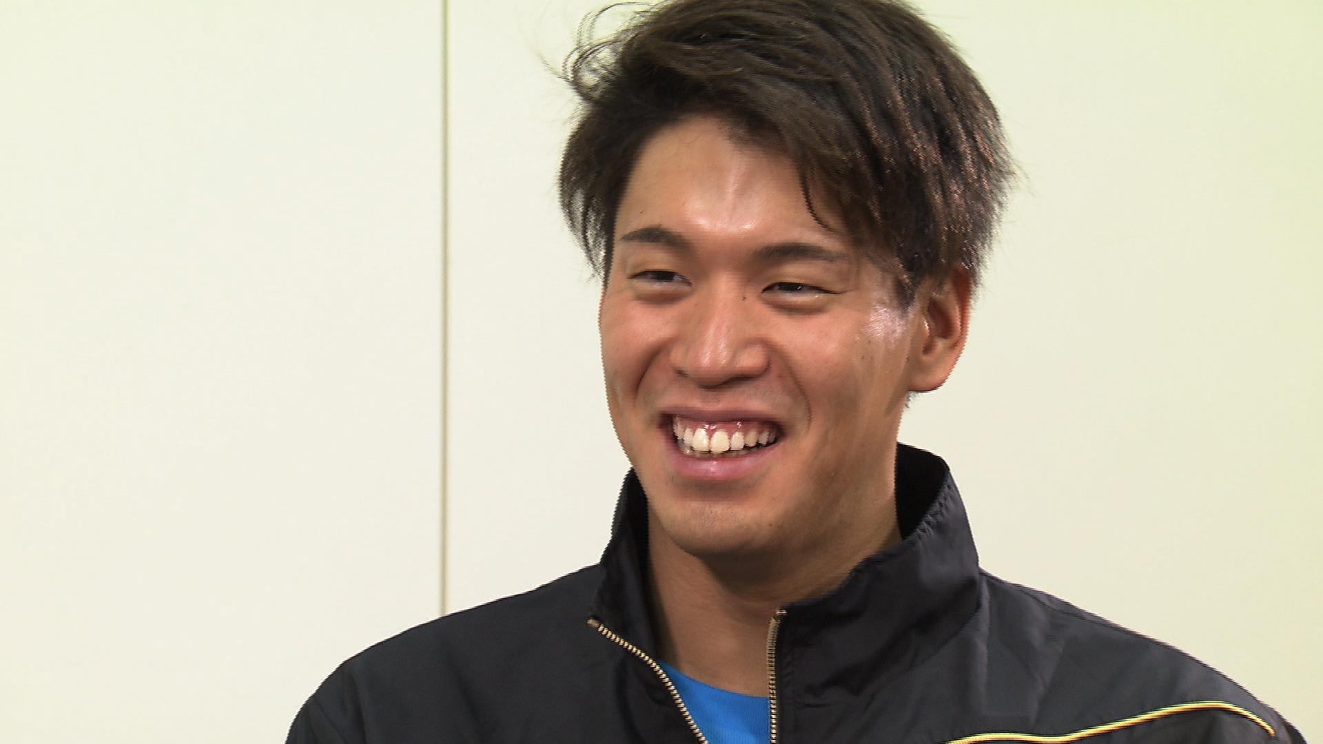 男子400メートルリレーに出場する難波暉【写真:テレビ朝日】