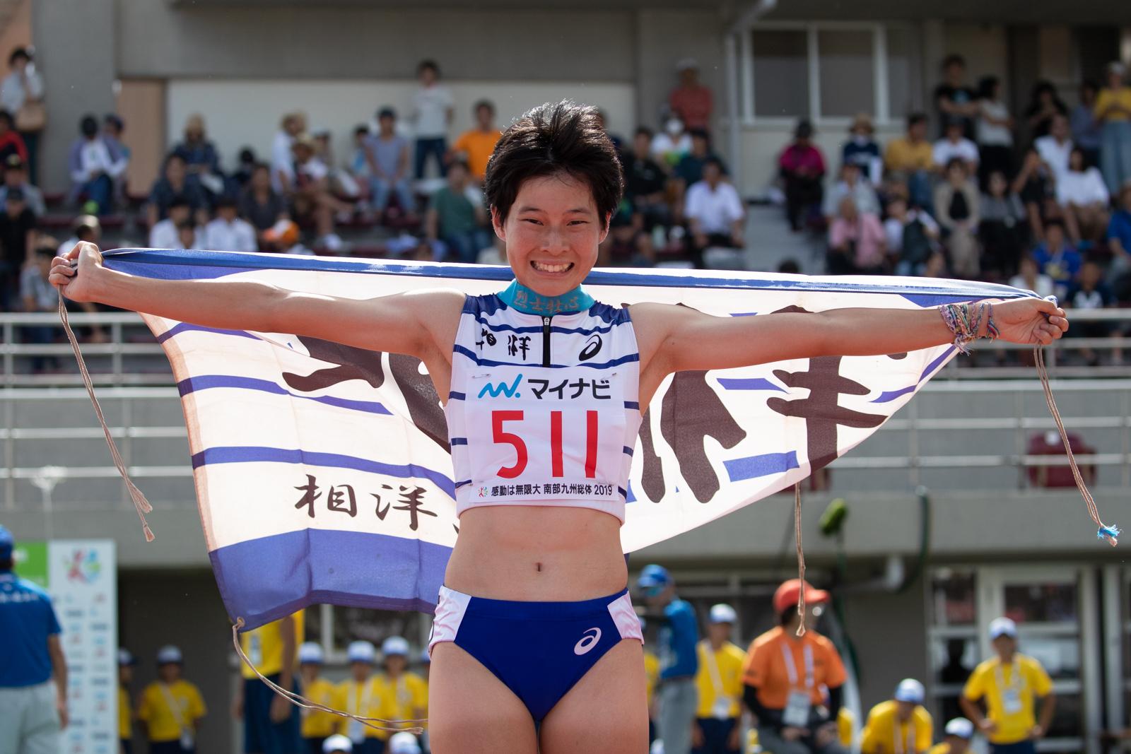 女子400メートルを制した高島【写真:奥井隆史】