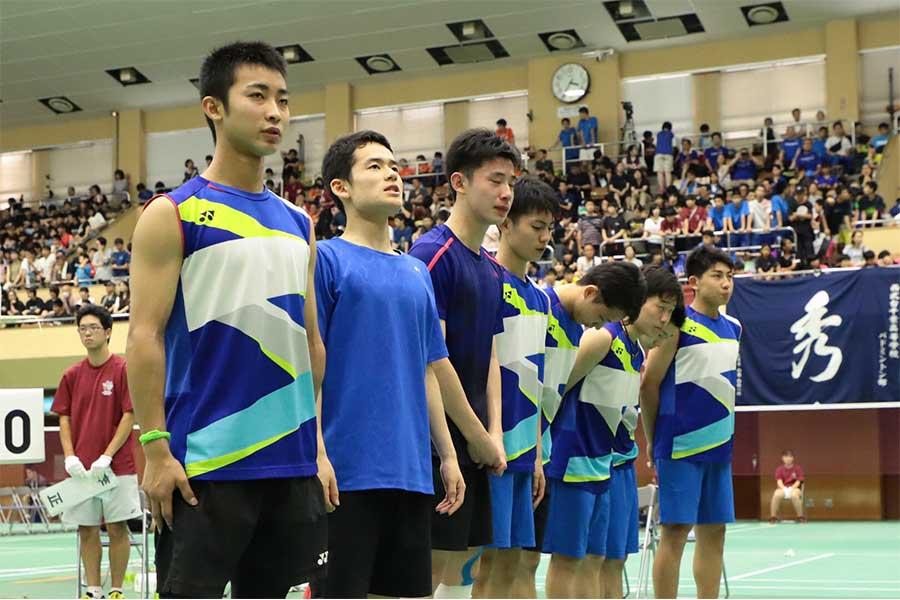 3位となった男子団体戦のふたば未来学園【写真:荒川祐史】