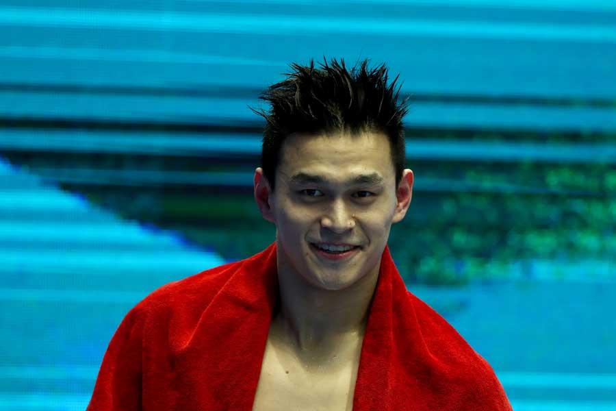 男子200メートル、400メートル自由形で2冠を達成した孫楊【写真:Getty Images】